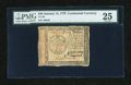 Colonial Notes:Continental Congress Issues, Continental Currency January 14, 1779 $40 PMG Very Fine 25....