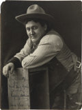 Western Expansion:Cowboy, Mammoth Size Photograph of a Silent Movie Star and Stage Player, 1911. ...