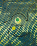 Fine Art - Work on Paper:Print, MAX ERNST (German, 1891-1976). L'Oiseau Vert. Lithograph in colors. Ed. 36/70. Signed lower right: Max Ernst. 18-1/2...