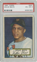Baseball Cards:Singles (1950-1959), 1952 Topps Willie Mays #261 PSA VG-EX 4....