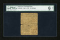 Colonial Notes:Delaware, Delaware May 1, 1758 20s PMG Good 6 NET....