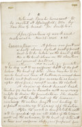 Miscellaneous:Ephemera, [Abraham Lincoln Monument] Contemporary Copy of the Specificationsof Work and Materials for the Construction of the National ...