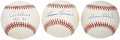 Autographs:Baseballs, Harmon Killebrew and Al Kaline Single Singed Baseballs Lot of 3....