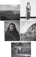 Photography:Official Photos, L. A. Huffman Montana and North Dakota Photographs: Lot of Five....(Total: 5 Items)