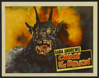 "Curse of the Demon (Columbia, 1957). Lobby Card (11"" X 14""). Horror"
