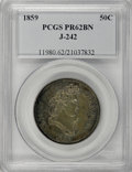 Patterns, 1859 P50C Half Dollar, Judd-242, Pollock-298, R.5, PR62 Brown PCGS....