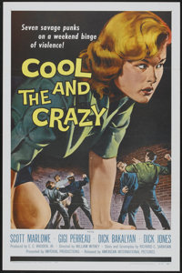 "The Cool and the Crazy (American International, 1958). One Sheet (27"" X 41"") Flat-Folded. Bad Girl"