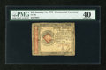 Colonial Notes:Continental Congress Issues, Continental Currency January 14, 1779 $20 PMG Extremely Fine 40....