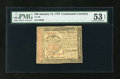 Colonial Notes:Continental Congress Issues, Continental Currency January 14, 1779 $40 PMG About Uncirculated 53EPQ....