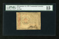 Colonial Notes:Continental Congress Issues, Continental Currency January 14, 1779 $70 PMG Choice Fine 15....