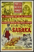 "Movie Posters:Adventure, Sabaka (United Artists, 1955). One Sheet (27"" X 41""). Adventure...."