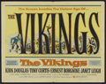 "Movie Posters:Action, The Vikings (United Artists, 1958). Half Sheet (22"" X 28"") Style A.Action...."