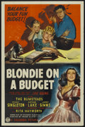 """Movie Posters:Comedy, Blondie on a Budget (Columbia, 1940). One Sheet (27"""" X 41"""").Comedy...."""