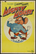 "Movie Posters:Animated, Mighty Mouse Stock (20th Century Fox, 1943). One Sheet (27"" X 41""). Animated...."
