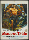 "Movie Posters:Adventure, Samson and Delilah (Paramount, R-1970s). Belgian (14"" X 20"").Adventure...."
