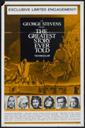 "Movie Posters:Drama, The Greatest Story Ever Told (United Artists, 1965). One Sheet (27"" X 41""). Drama...."