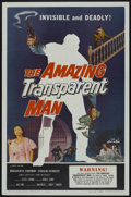 "Movie Posters:Science Fiction, The Amazing Transparent Man (Miller-Consolidated Pictures, 1959).One Sheet (27"" X 41""). Science Fiction...."