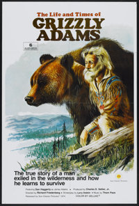 "The Life and Times of Grizzly Adams (Sunn Classic, 1974). One Sheet (27"" X 41""). Adventure"