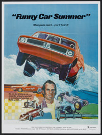 "Funny Car Summer (Ambassador Pictures, 1974). Poster (30"" X 40""). Documentary"