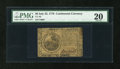 Colonial Notes:Continental Congress Issues, Continental Currency July 22, 1776 $6 PMG Very Fine 20....
