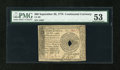 Colonial Notes:Continental Congress Issues, Continental Currency September 26, 1778 $60 PMG About Uncirculated53....