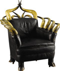 Western Expansion:Cowboy, Longhorn Club Chair by Unknown Maker, early 1900s....