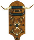 Western Expansion:Cowboy, Horn Wall Hanging by Unknown Maker, early 1900s. ...