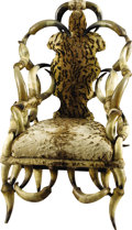 Western Expansion:Cowboy, Beautiful Longhorn Chair by Unknown Maker, early 1900s ...
