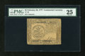 Colonial Notes:Continental Congress Issues, Continental Currency February 26, 1777 $5 PMG Very Fine 25....