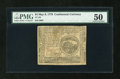 Colonial Notes:Continental Congress Issues, Continental Currency May 9, 1776 $4 PMG About Uncirculated 50....