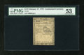 Colonial Notes:Continental Congress Issues, Continental Currency February 17, 1776 $1/2 PMG About Uncirculated53....