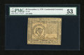 Colonial Notes:Continental Congress Issues, Continental Currency November 2, 1776 $8 PMG About Uncirculated53....