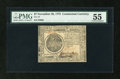 Colonial Notes:Continental Congress Issues, Continental Currency November 29, 1775 $7 PMG About Uncirculated55....