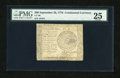 Colonial Notes:Continental Congress Issues, Continental Currency September 26, 1778 $60 PMG Very Fine 25....