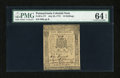Colonial Notes:Pennsylvania, Pennsylvania July 20, 1775 10s PMG Choice Uncirculated 64 EPQ....
