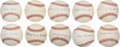 Autographs:Baseballs, Negro League Stars Single Signed Baseballs Lot of 10. ...