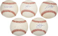 Autographs:Baseballs, Super Sluggers Single Signed Baseballs Lot of 5.... (Total: 5items)