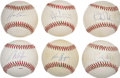 Autographs:Baseballs, Modern Stars Single Signed Baseballs Lot of 6....