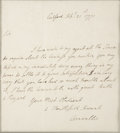 "Autographs:Military Figures, Charles, Lord Cornwallis Autograph Letter Signed, ""Cornwallis"". One page, 7.25"" x 8"" (sight), September 21, 1771..."