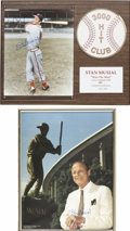 Autographs:Photos, Stan Musial Signed Photo Plaques Lot Of 2....