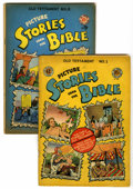 Golden Age (1938-1955):Religious, Picture Stories from the Bible Old Testament Edition #1 and 2 Group(EC, 1946) Condition: Average VG.... (Total: 2 Comic Books)