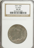 Bust Half Dollars, 1817 50C VG10 NGC. O-105A. NGC Census: (5/346). PCGS Population(1/342). Mintage: 1,215,567. Numismedia Wsl. Price for NGC/...
