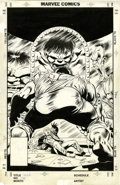 Original Comic Art:Covers, Steve Geiger and Bob McLeod The Incredible Hulk #339 CoverOriginal Art (Marvel, 1988)....