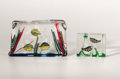 "Art Glass:Other , ALFREDO BARBINI (Italian, b. 1912). Two ""Aquarium"" GlassSculptures, circa 1950. 6 x 10 x 2 inches (15.2 x 25.4 x 5.1 cm) .... (Total: 2 Items)"