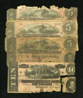 Confederate Notes:Group Lots, T68 $10 1864. T69 $5 1864 Three Examples.. ... (Total: 4 notes)