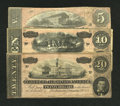 Confederate Notes:Group Lots, T67 $20 1864. T68 $10 1864. T69 $5 1864.. ... (Total: 3 notes)