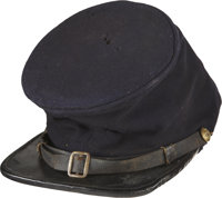 Incredibly Historic Forage Cap Worn by a Private Soldier of the 23rd U.S. Colored Troops, Together with His Image. Th