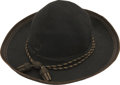 Military & Patriotic:Civil War, Fine Officers Slouch Hat with New Hampshire History. This soft, black felt officer's slouch hat has all the hallmarks of a C...