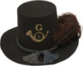 """Military & Patriotic:Civil War, Pristine Infantry """"Jeff Davis"""" Hat. This example of the Federal issue Army Hat is in mint, unissued condition, completely tr..."""