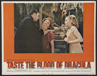 "Taste the Blood of Dracula Lot (Warner Brothers, 1970). Lobby Card (11"" X 14"") and Autographed Paperback Book..."